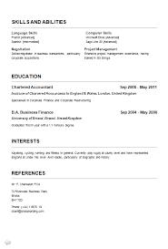 simple curriculum vitae format curriculum vitae exles jobcred blog