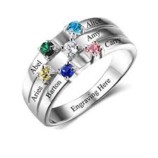 mothers ring with names lam hub fong personalized s rings for 6 aaaa