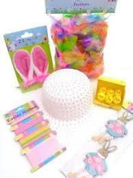 easter bonnet easter bonnet kit make decorate your own hat bunny ears