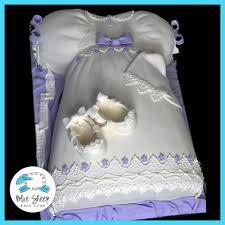 christening dress cake blue sheep bake shop