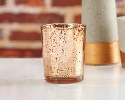 mercury tea light holders copper mercury glass tealight holder set of 4 wholesale favors