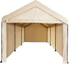 caravan canopy 10 u0027 x 20 u0027 mega domain carport canopy sidewalls