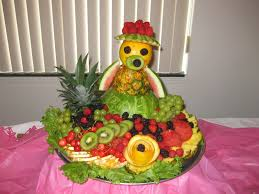how to make edible fruit arrangements for baby shower fruit
