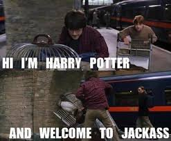 Harry Potter Trolley Meme - and welcome to jackass know your meme