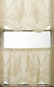 Crochet Kitchen Curtains by Cortina De Flores Blancas Al Crochet Cortina Tejida Pinterest