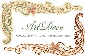 art deco design element corner royalty free cliparts vectors