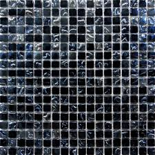 1 sf glass mosaic tile silver u0026 black backsplash kitchen wall
