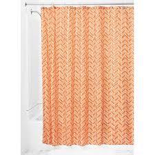interdesign nora shower curtain burnt orange coral interdesign