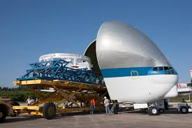 Modulk He Orion Service Module Stacking Assembly Secured For Flight Nasa