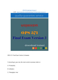 ops 571 final exam version 3 2015 version