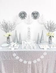 winter dessert table winter white elephant
