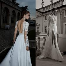 wedding dress lace back and sleeves wedding dress lace sleeves open back naf dresses