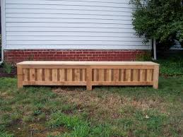 Western Red Cedar Outdoor Furniture by Hand Made Custom Western Red Cedar Patio Storage Bench By Grant