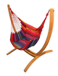lazyrezt xl hanging chair with wooden arc stand set maranon