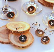 diy chalkboard wood slice wine charms don t lose your glass