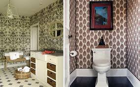 luxury wallpaper for bathroom walls in home remodeling ideas with