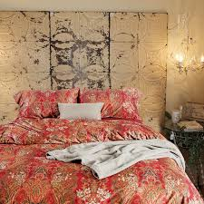 Bright Duvet Cover Boho Paisley Print Luxury Duvet Quilt Cover And Shams 3pc Bedding