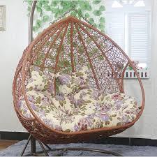 basket wicker double hammock indoor home living room hanger