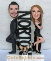 cake toppers bobblehead mr mrs smith bobbleheads cake toppers 10688 138 58