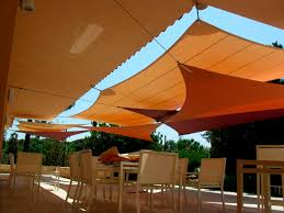 exterior cool shade sails design for your contemporary outdoor