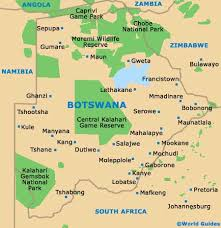 africa map kalahari botswana maps and orientation botswana southern africa