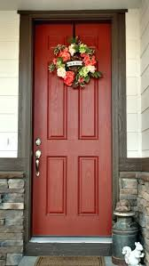 front door color for red brick house red painted front door with