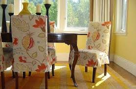 Dining Room Chairs With Slipcovers Floral Pattern Dining Room Chair Slipcovers Wonderful Dining