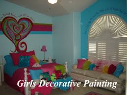 girls decorative wall painting painting stripes on walls