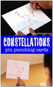 montessori writing paper constellations pin punching cards montessori gift of curiosity constellations pin punching cards set featuring 23 constellations from our night sky kids learn about