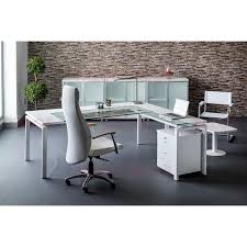 bureau retour bureau tempo gm avec retour à gauche verre clair talos