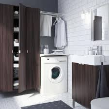 bathroom ideas with washer and dryer round small bamboo basket two
