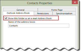 how to create an outlook address book in 2013 the contacts folder as an address book