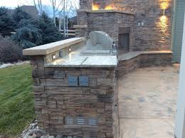 outdoor kitchen and fireplace in lafayette co u2013 hi tech appliance