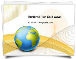 powerpoint gold wave business plan template