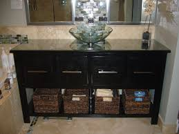 pull out baskets for bathroom cabinets stylish black bathroom vanity cabinet with double sink vanities