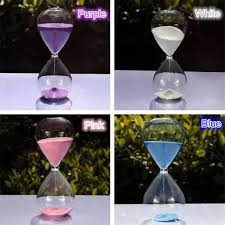15 minutes transparent glass sand timer clock hourglass sandglass