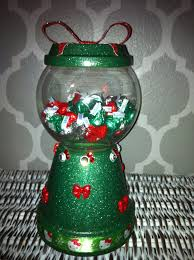 christmas green hello kitty gumball candy dish clay pot crafts