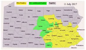 Pennsylvania Counties Map by Fall Re Emergence Of The Allium Leafminer