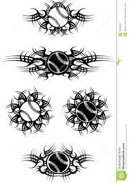 tribal baseball or softball balls stock vector illustration of