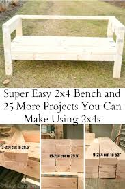 easiest 2x4 bench plans ever i am a homemaker