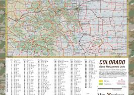 Longmont Colorado Map by Colorado Big Game Hunting Map U2013 Map The Xperience