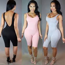 womens cotton jumpsuit rompers solid bodysuit overalls summer 2016 cotton