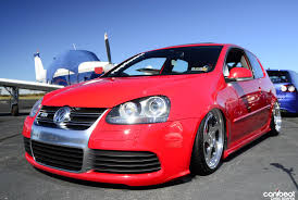 red volkswagen golf red vw golf mk5 r32 with silver wheels vw golf tuning