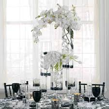 tower vase with white dendrobium guest unique tall wedding