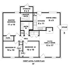 3 bedroom home floor plans amazing 14 three bedroom house plans free blueprint of a 3 home