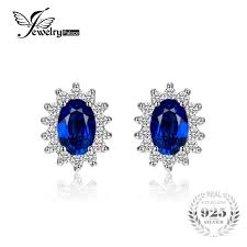 blue stud earrings jewelrypalace princess diana william kate middleton s 1 5ct