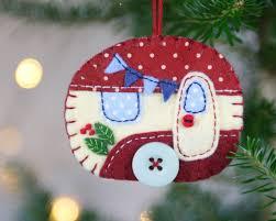 felt caravan ornament trailer ornament ornament and