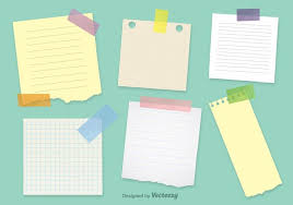 office notepaper vector templates free vector