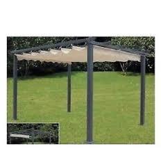 gazebo telo gazebo pergola veranda 3 5x2 5mt in acciaio telo in poliestere da