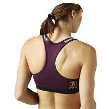 reebok spartan race short bra underwear purple women s clothing